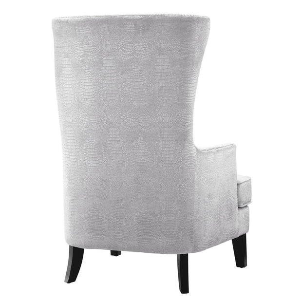 Bristol Silver Croc Tall Chair