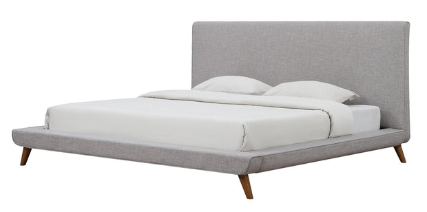 Nixon Beige Linen Bed in Full