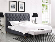 Oxford Grey Linen Bed in Queen