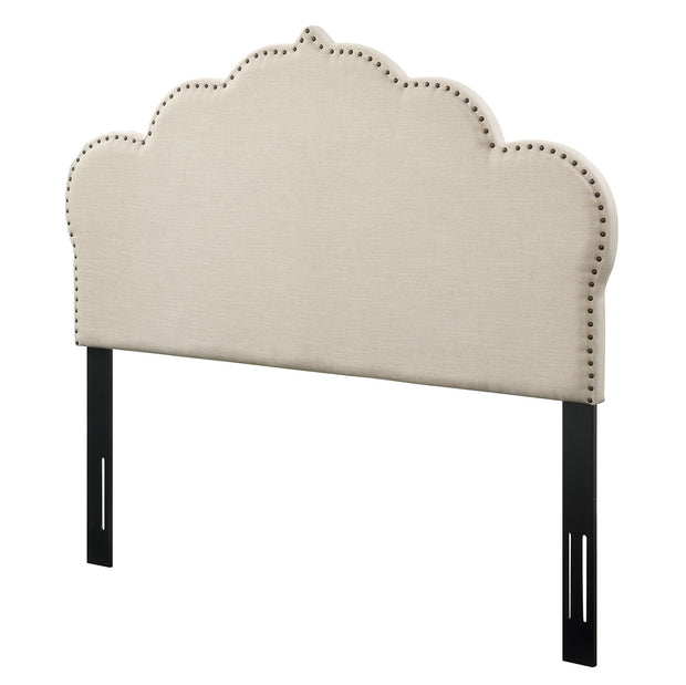 Noches King Headboard in Beige Linen