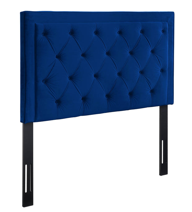 Nacht Twin Headboard in Navy Velvet