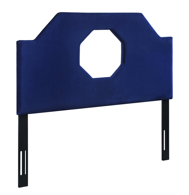 Noctis King Headboard in Navy Velvet