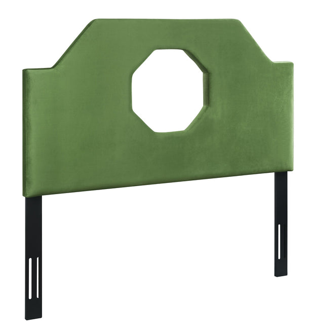 Noctis King Headboard in Green Velvet