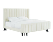 Waverly Cream Velvet Bed in King
