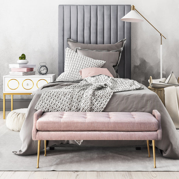 Arabelle Grey Bed in Queen