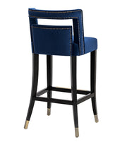 Hart Navy Velvet Counter Stool