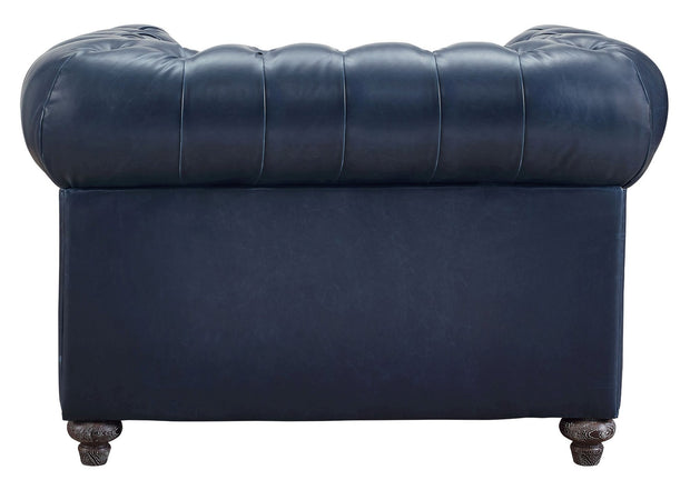 Durango Rustic Blue Leather Club Chair