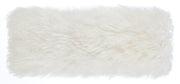 Tibetan Sheep Long Pillow from the Moody Collection  made from Sheepskin in White featuring Made from real Tibetan sheep fur and Available in various colors and sizes