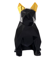 Mans Best Friend Sculpture - Black and Gold from the Midas Touch Collection  made from Resin in Black, Gold featuring  and