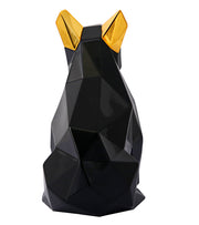 Mans Best Friend Sculpture - Black and Gold