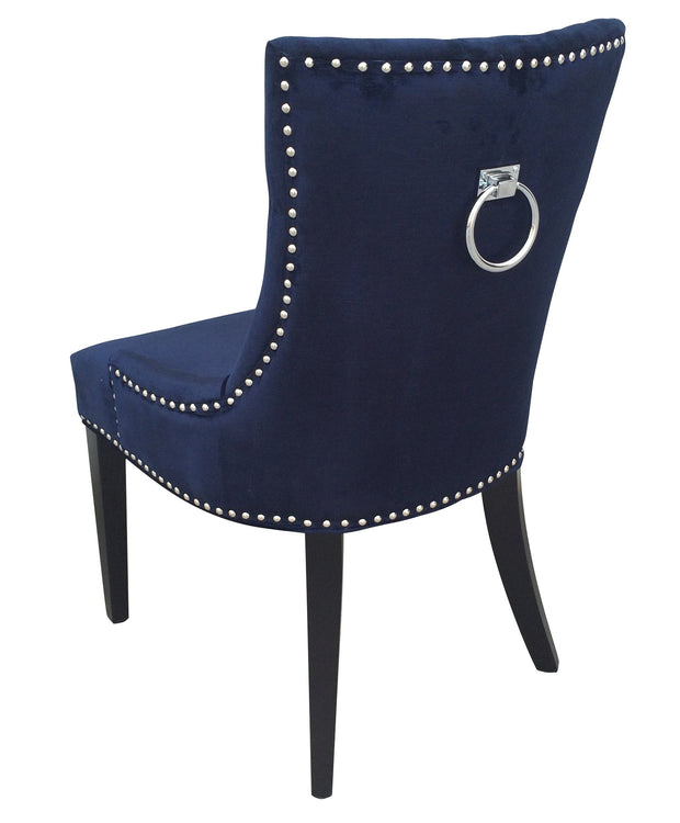 Uptown Navy Velvet Dining Chair