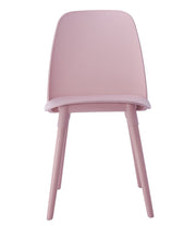 Cosmo Pink Chair (Set of 2) from the Cosmo Collection  made from Polypropylene, Beech Wood in Pink featuring Easy wipe clean surface and Materials: Beech Wood, Polypropylene