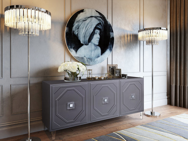 Andros Grey Lacquer Buffet