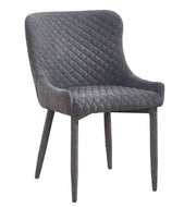 Draco Grey Velvet Chair