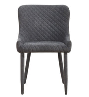 Draco Grey Velvet Chair from the Draco Collection  made from Steel, Velvet in Grey featuring Handmade by skilled furniture craftsmen and Steel upholstered legs