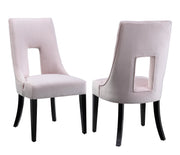 Lipstick Blush Velvet Dining Chair