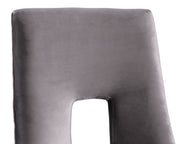 Lipstick Grey Velvet Dining Chair