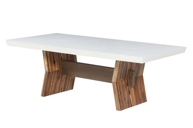 Astoria White Concrete Table
