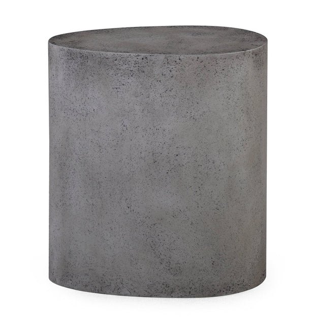 Everly Concrete Oval Stool from the Everly Collection  made from MDF in Concrete featuring Completely handmade and Each piece is hand finished giving it a unique look