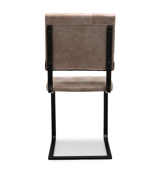 Cora Smokey Taupe Chair (Set of 2)