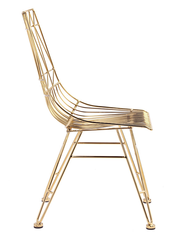 Allure Gold Steel Chair (Set of 2)