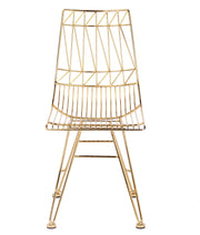 Allure Gold Steel Chair from the Allure Collection  made from Steel in Gold featuring Gold colored solid steel welded chair and Versatile and can be used in a verity of spaces