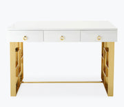 Audrey White Lacquer Desk from the Audrey Collection  made from MDF in White featuring  and