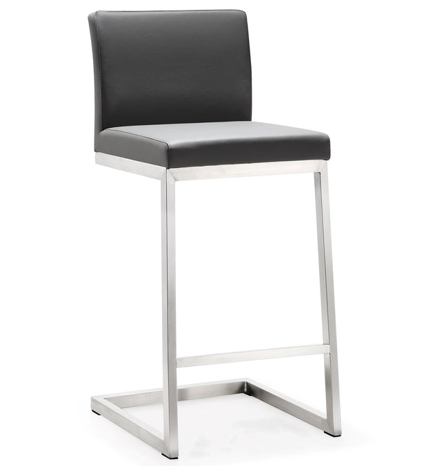 Parma Grey Steel Counter Stool  (Set of 2)