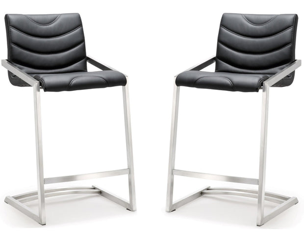 Rio Black Steel Counter Stool  (Set of 2)