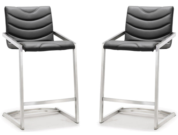 Rio Grey Steel Counter Stool  (Set of 2)