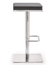 Bari Grey Steel Adjustable Barstool
