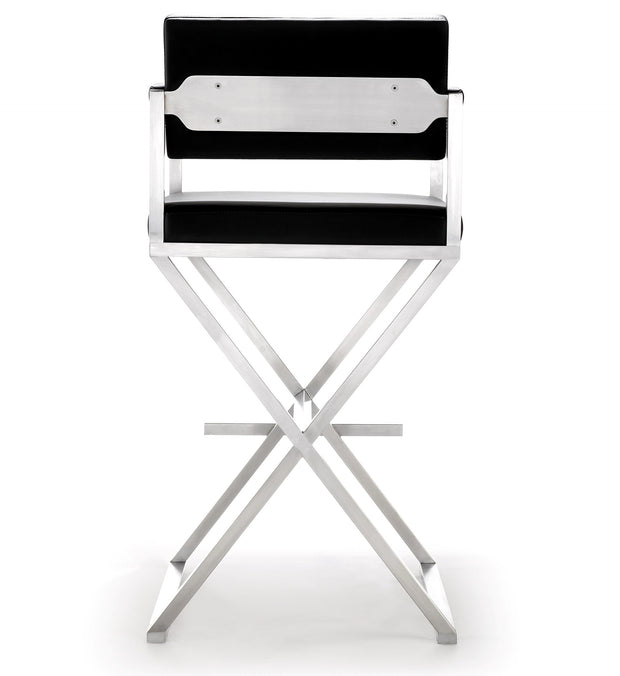 Director Black Steel Barstool