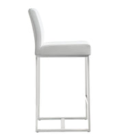 Denmark White Steel Counter Stool  (Set of 2)