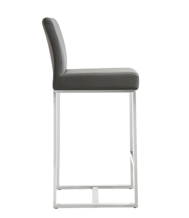 Denmark Grey Steel Counter Stool (Set of 2)