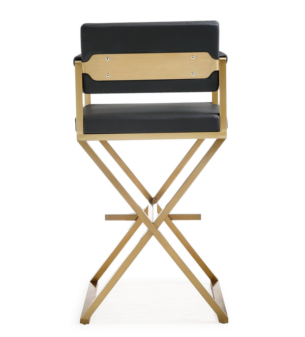 Director Black Gold Steel Barstool
