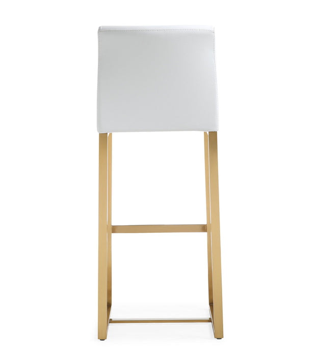 Denmark White Gold Steel Barstool (Set of 2)