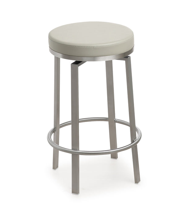 Pratt Grey Steel Counter Stool - Set of 2