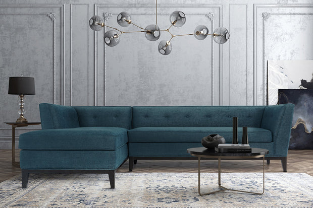Jess Azure Textured Linen LAF Sectional