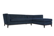 Jess Navy Textured Linen RAF Sectional