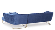 Caprice Navy Velvet RAF Sectional