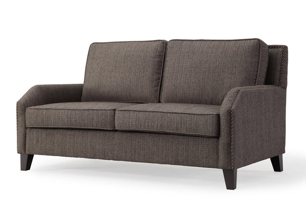 Hartford Grey Linen Loveseat