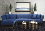 Caprice Navy Velvet LAF Sectional