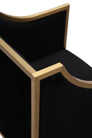 Atara Black Velvet Gold Chair
