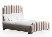 Natalie Beige Linen Bed in Queen
