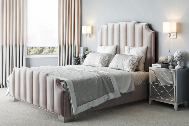 Natalie Beige Linen Bed in King