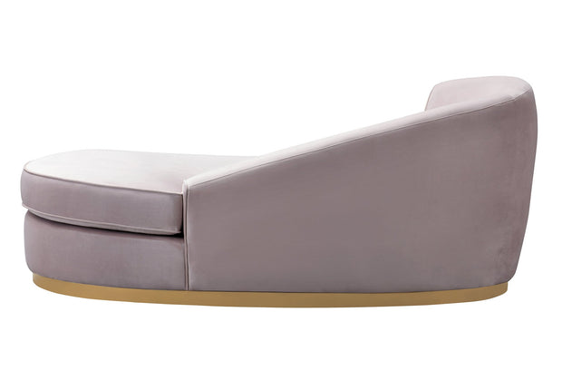 Adele Blush Velvet Chaise