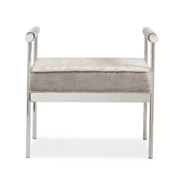 Diva Silver Textured Bench