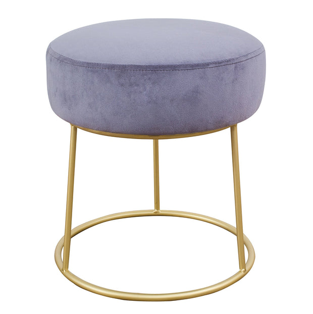 Nina Grey Velvet Stool from the TOV Slashed Collection  made from  in Grey featuring Part of the TOV Slashed collection and Sumptuous velvet upholstery