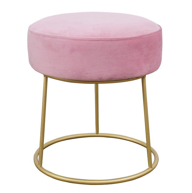 Nina Blush Velvet Stool from the TOV Slashed Collection  made from  in Blush featuring Part of the TOV Slashed collection and Sumptuous velvet upholstery