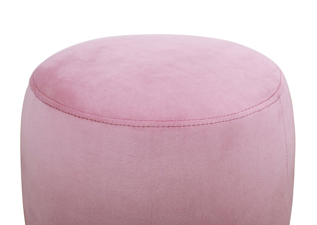 Willow Blush Velvet Ottoman